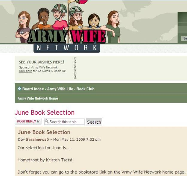 army wife book club
