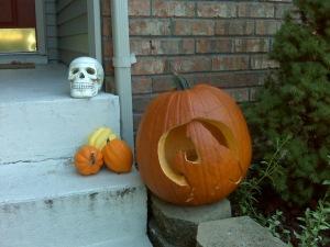 halloween stoop