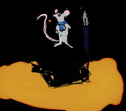 writer  mouse trans bckgrnd
