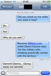 why do military wives cheat on their husbands